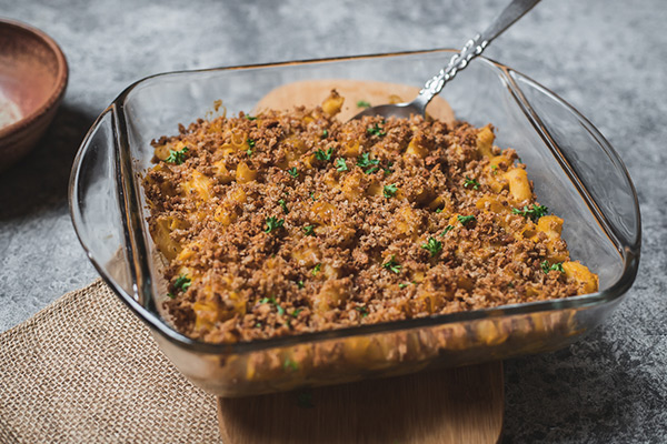 Oven Baked Butternut Squash Mac and Cheese  (Dairy optional)